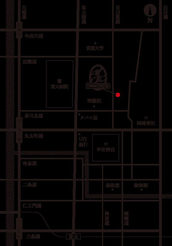 オステリアコナチネッタは京都は聖護院のすぐ近く、吉田東通り沿いにあります。